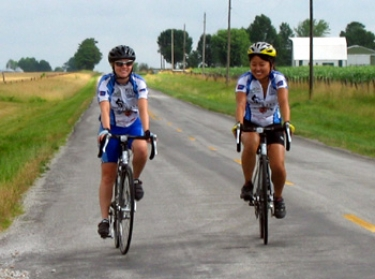 Lauren (Spangler) and Fumi on their way to Garden City, MO.