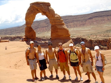 another group hiked a little more to actually get to the arch