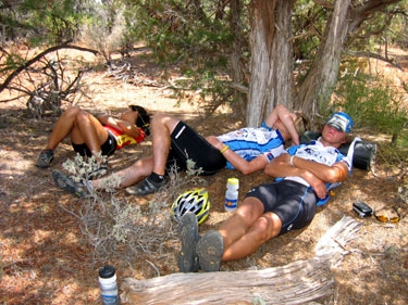 hot days, tired riders