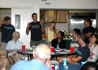 introducing ourselves at our last community dinner in stockton, CA