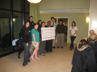 Check presentation to the Hope Lodge.
